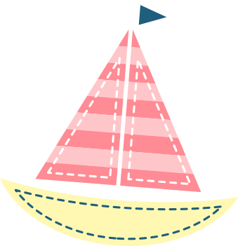 Children's illustration of a toy sailboat