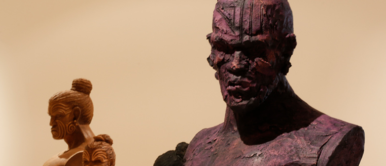 Clay busts of Māori