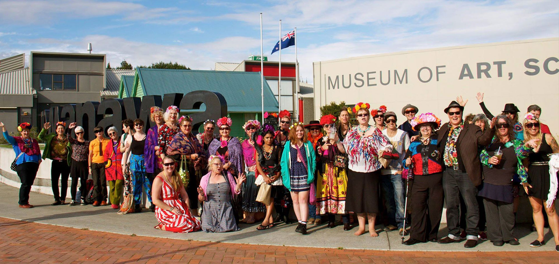 Group of Frida Kahlo enthusiasts visit from Wellington