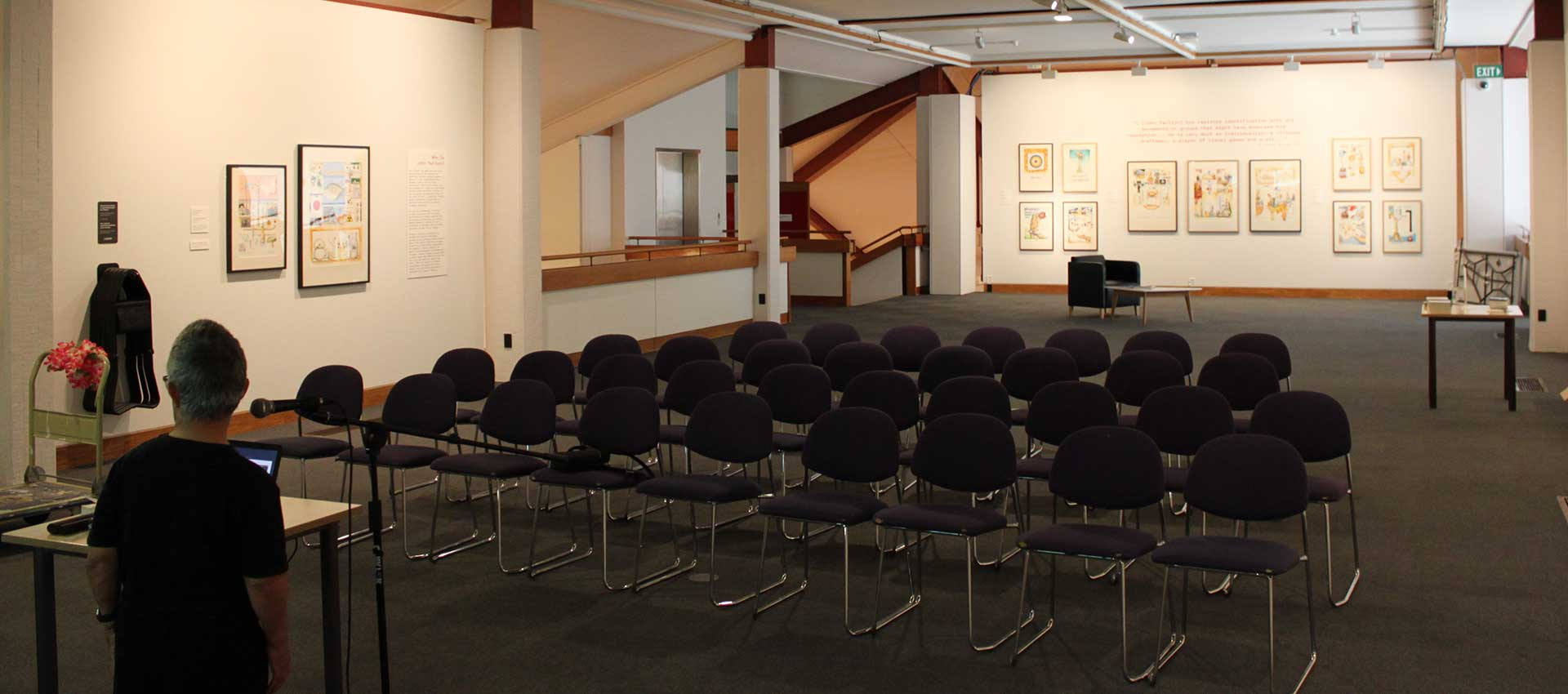 Gallery Five - theatre-style seating arrangement