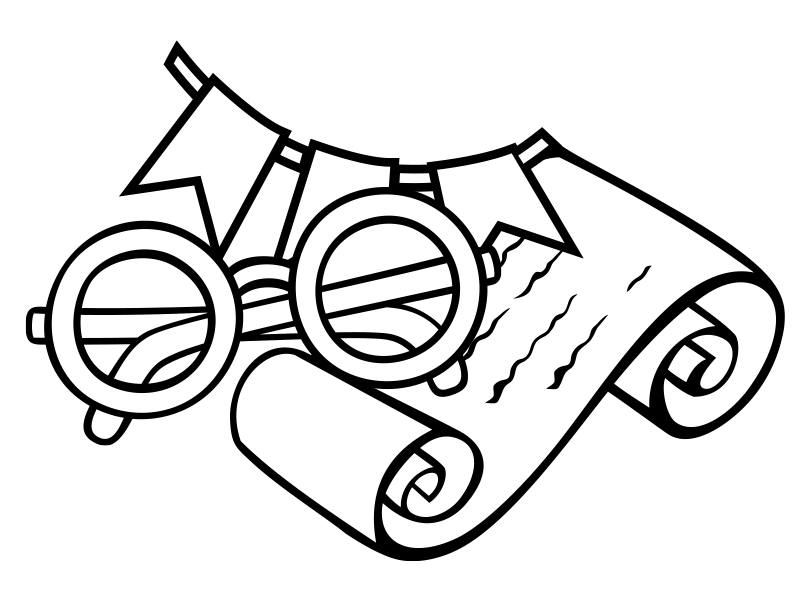 illustration of reading glasses and scroll