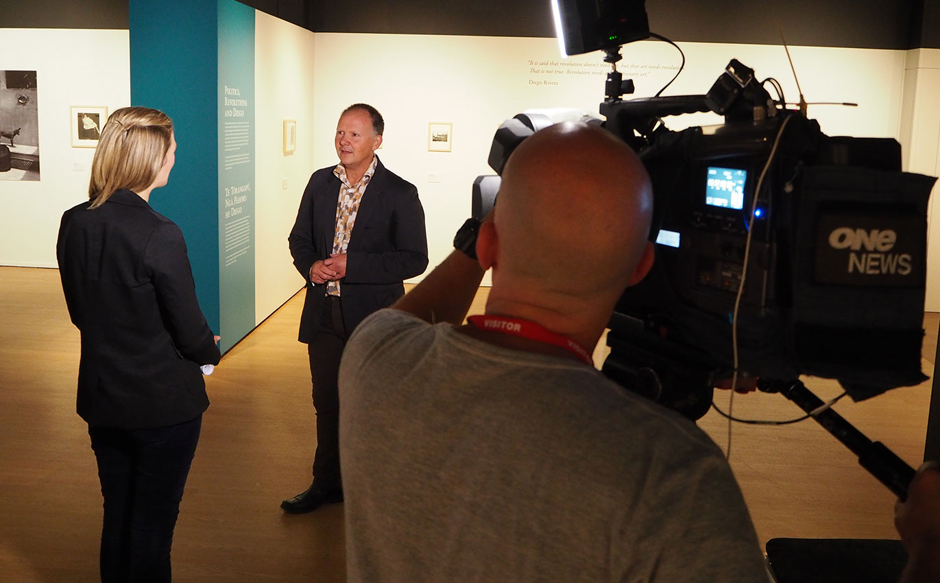Chief Executive Andy Lowe is interviewed by TVNZ One News