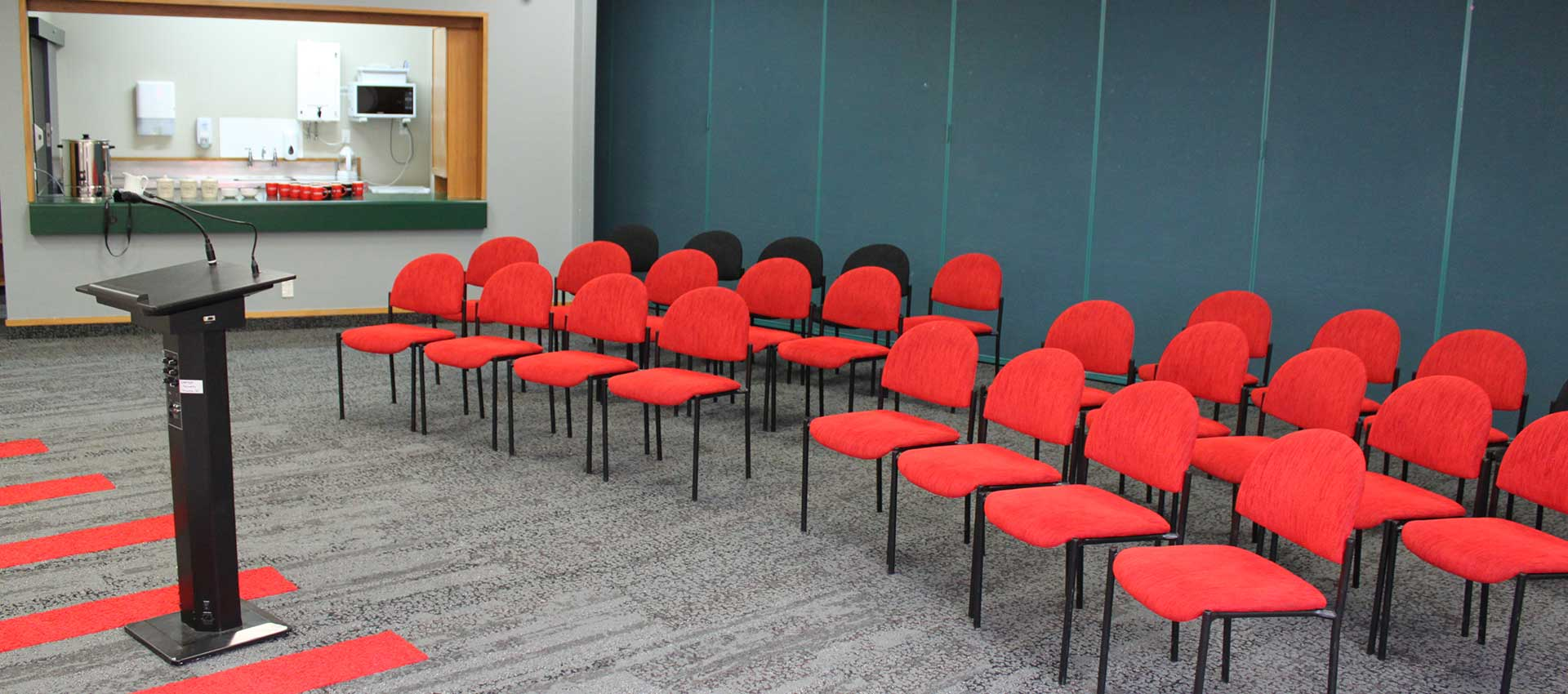 Chairs arranged in conference room