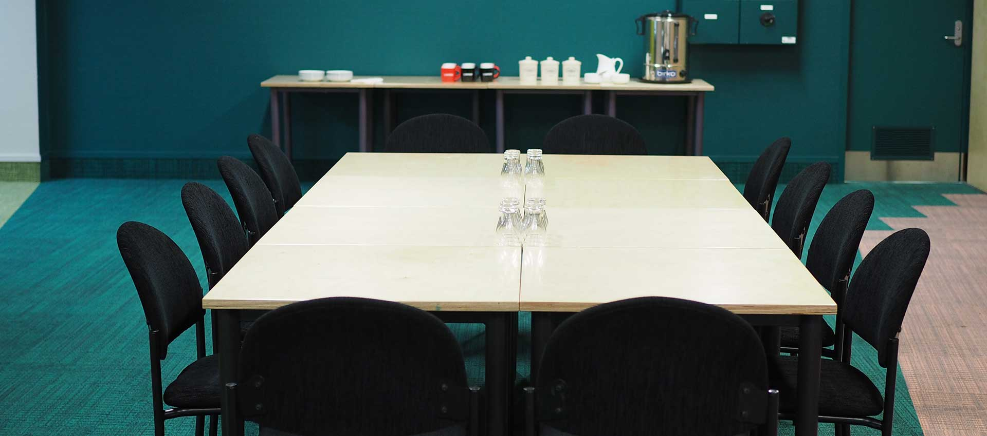 Table set for meeting