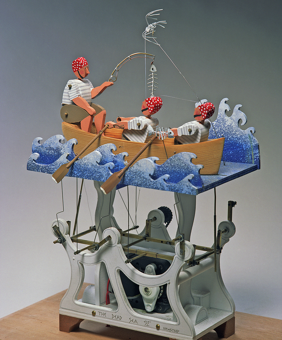Image of automata depicting men in a sailboat