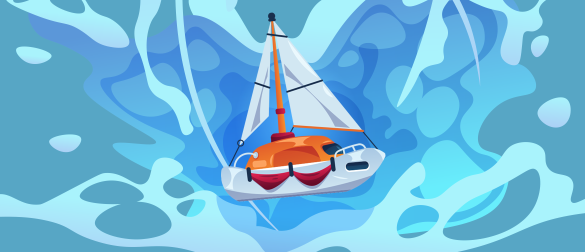 Image of a boat splashing into water