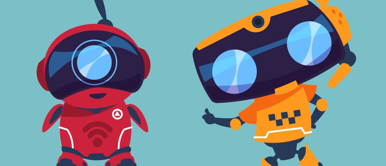 illustration of cute robots